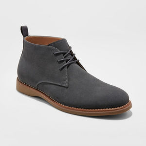 NEW! Goodfellow Chukka Gray Lace-Up Boot